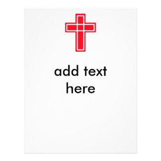 Aviadores cruzados rojos y blancos cristianos para tarjetas publicitarias