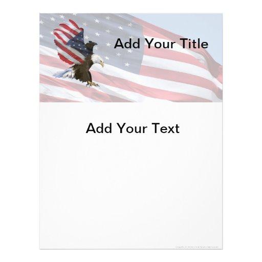 Aviadores de la bandera de Eagle Tarjetones
