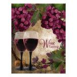 Aviadores de la degustación de vinos de las uvas r tarjetas informativas