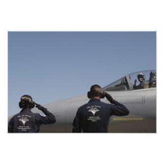 Aviadores de la fuerza aérea de los E.E.U.U. Impresión Fotográfica