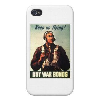 Aviadores de Tuskegee Guerra-enlace rojo de la co iPhone 4 Carcasas