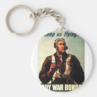 Aviadores de Tuskegee, Guerra-enlace rojo de la co Llavero Redondo Tipo Pin