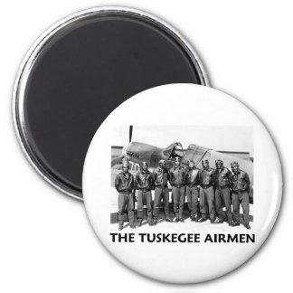 Aviadores de Tuskegee Imán Redondo 5 Cm