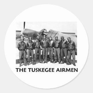 Aviadores de Tuskegee Pegatinas Redondas