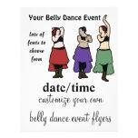 """Aviadores del acontecimiento de la danza de vientr folleto 8.5"""" x 11"""""""