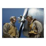 Aviadores del Cuerpo del Marines WW2 Tarjeton