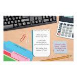 Aviadores del escritorio de la contabilidad tarjeta publicitaria