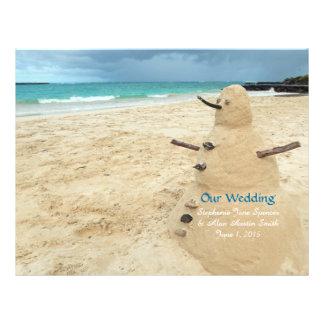 """Aviadores del programa del boda de playa del folleto 8.5"""" x 11"""""""