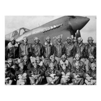 aviadores del tuskegee tarjeta postal