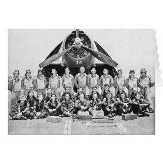 Aviadores del vengador durante WWII Tarjeton
