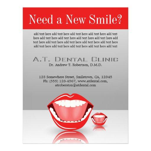 """Aviadores dentales de la boca de la odontología folleto 8.5"""" x 11"""""""