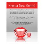 Aviadores dentales de la boca de la odontología gr flyer a todo color