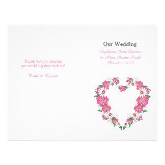 """Aviadores florales del programa del boda del marco folleto 8.5"""" x 11"""""""