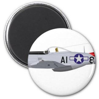 Aviadores norteamericanos de Tuskegee del mustango Imán Redondo 5 Cm