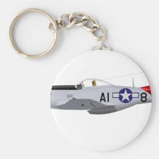 Aviadores norteamericanos de Tuskegee del mustango Llavero Redondo Tipo Pin