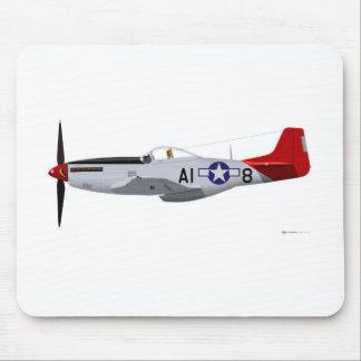 Aviadores norteamericanos de Tuskegee del mustango Alfombrillas De Ratones
