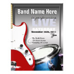 Aviadores rojos y azules del tambor de la guitarra tarjetones