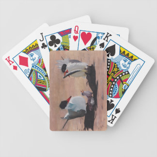Avian Family Feeding Time Bicycle Playing Cards