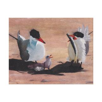 Avian Family Feeding Time Canvas Print