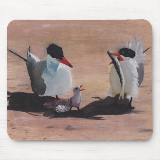 Avian Family Feeding Time Mouse Pad