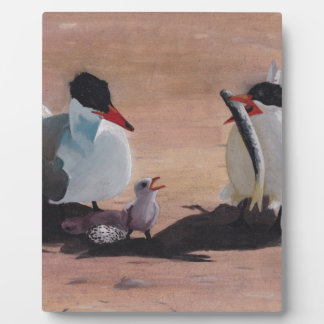 Avian Family Feeding Time Plaque