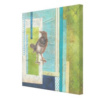 Avian Scrapbook I Canvas Print