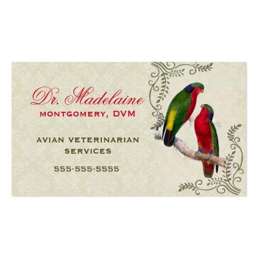 Avian Veterinarian Parrot Business Card