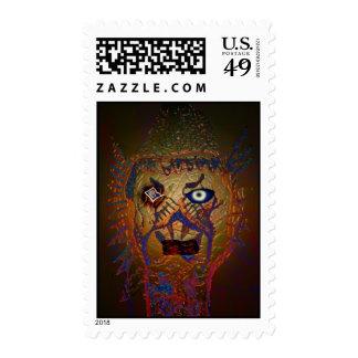 Avian wizard Halloween Postage Stamps