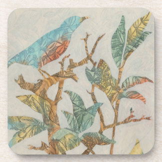 Aviary Collage I Beverage Coaster