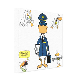 Aviation Art Humour Wrapped Canvas Canvas Print