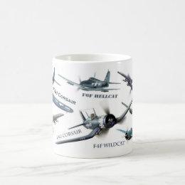 "Aviation Art Mug ""American warplane of WWII """