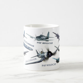 "Aviation Art Mug ""American warplane of WWII """