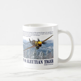 """Aviation Art mug """"P-40 Aleutian Tiger"""""""