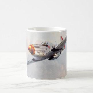 "Aviation art mug ""P-51D Mustang """