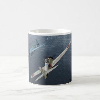 "Aviation Art Mug ""Zero Fighter Sky Samurai """