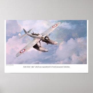 "Aviation Art Poster ""Aichi E13A in French Nava """