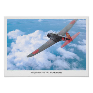 """Aviation Art Poster """"attack plane """"Kate """" on"""