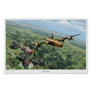 "Aviation Art Poster ""B-24 Liberator"""