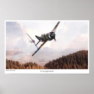 "Aviation Art Poster ""Brewster Buffalo"""