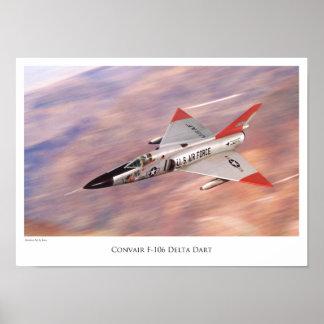 """Aviation Art Poster """"Convair F-106 Delta Dart """""""