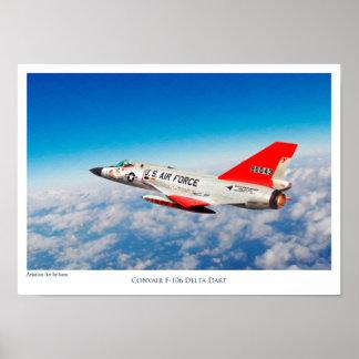 """Aviation Art Poster """"Convair F-106 Delta Dart"""""""