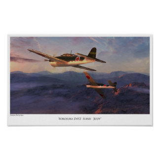 """Aviation Art Poster """" D4Y2 Suisei""""Judy"""""""""""