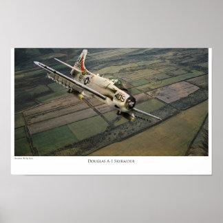 "Aviation Art Poster ""Douglas A-1 Skyraider """