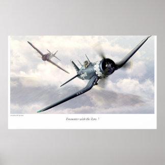 "Aviation Art Poster ""F4U Corsair """