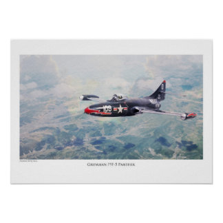 """Aviation Art Poster """"F9F Panther """""""