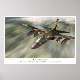 "aviation Art Poster "" F-111 Aardvark"""