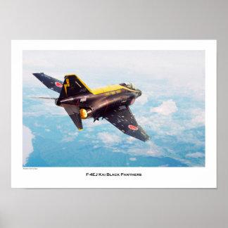 "Aviation Art Poster ""F-4 EJ KAI Black Panthers """