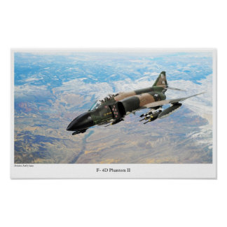 "Aviation Art Poster ""F-4 Phantom II"""
