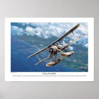 "Aviation Art Poster ""Fairey Swordfish """