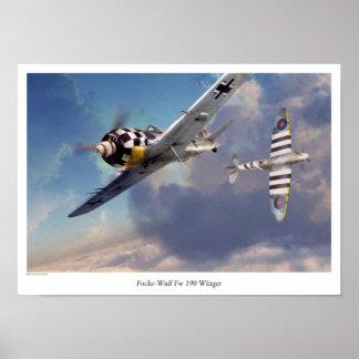 "Aviation Art Poster ""Focke-Wulf Fw 190"""